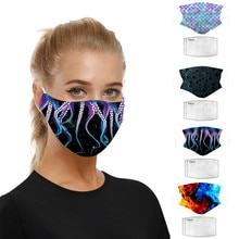 Faceshield Women Man Scarf Cloth Facemask Mondkapjes Met Filter Mondkapjes Wasbaar Face Maske For Germ Protect Mascarillas