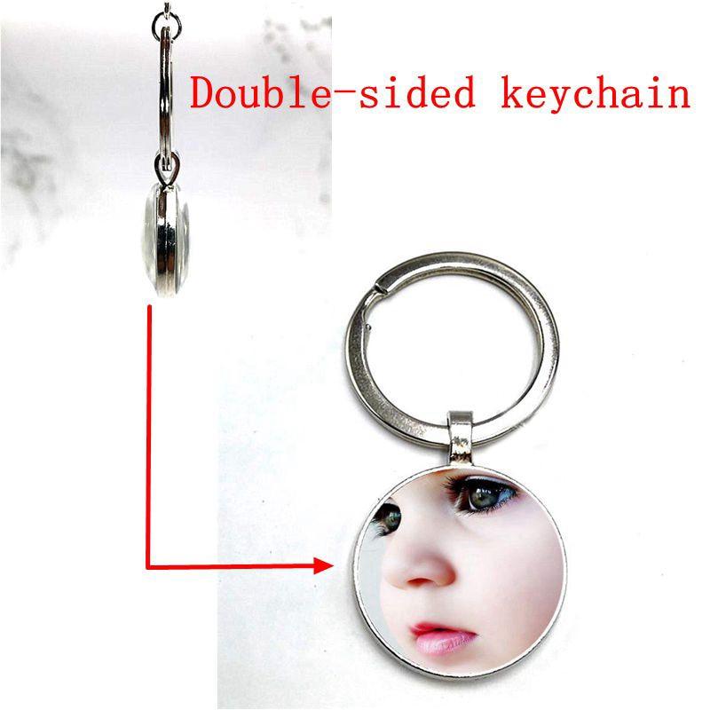 100pcs double-sided keychain