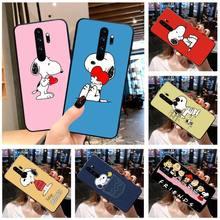 De dibujos animados cacahuetes Charlie Brown perro beagle de cubierta de la caja del teléfono para Redmi Nota 9 8 8T 8A 7 6 6A ir Pro Max Redmi 9 K20 K30