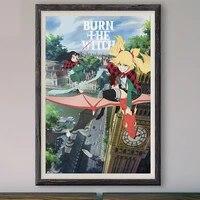 M048     affiche en soie personnalisee  film de mode classique  brulure de la sorciere  2020   decoration murale  cadeau de noel
