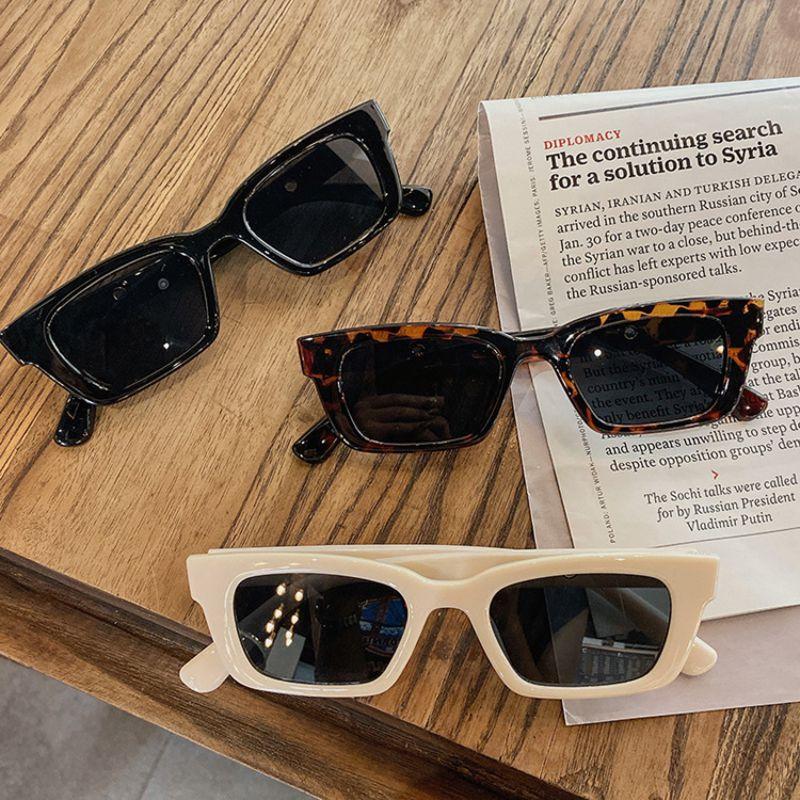 Женские прямоугольные солнцезащитные очки, Ретро Винтажные Солнцезащитные очки с леопардовым принтом, женские очки, очки, очки «кошачий гл...