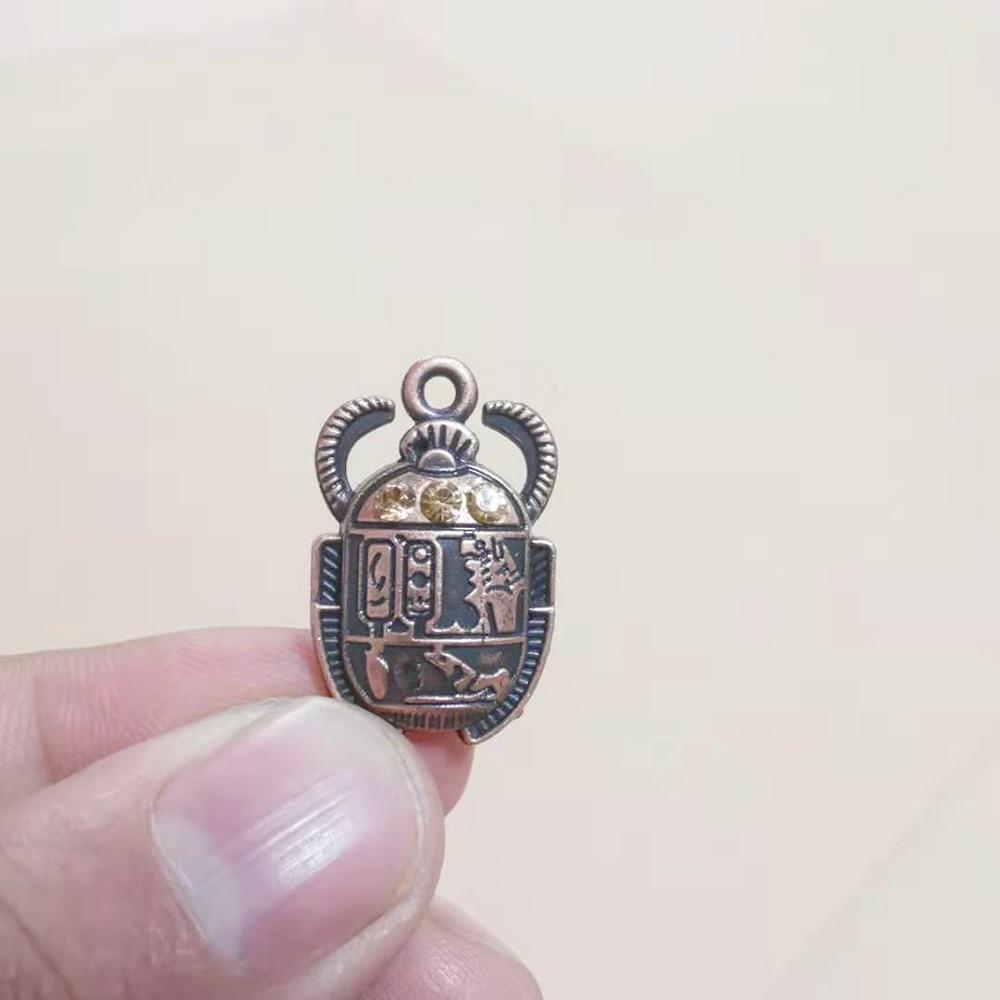 Egipcio de escarabajo colgantes para joyería de pendientes de pulsera de collar de llaveros colgantes de moda resultados 5 uds