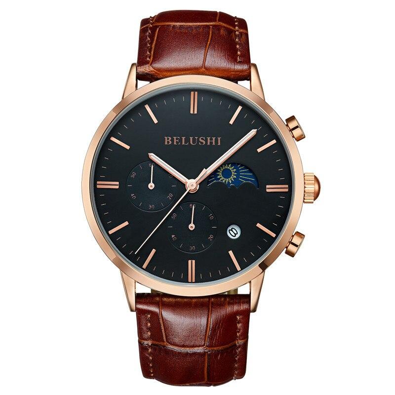 Многофункциональные водонепроницаемые деловые спортивные кварцевые часы, мужские часы, оптовая продажа модных мужских часов