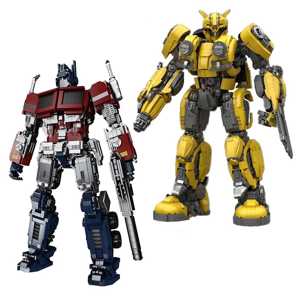 dickie toys машинка трансформер боевой трейлер optimus prime Креативная серия Optimus Toys Prime, модель-трансформер, строительные блоки, робот, механические блоки, игрушки для детей, подарки для детей