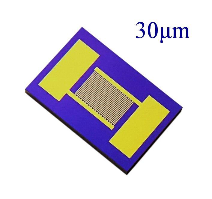 30 um القطب الرقمي البيني القائم على السيليكون عالية الدقة وعالية الاستقرار MEMS الغاز مجموعة السعة الاستشعار الحيوي