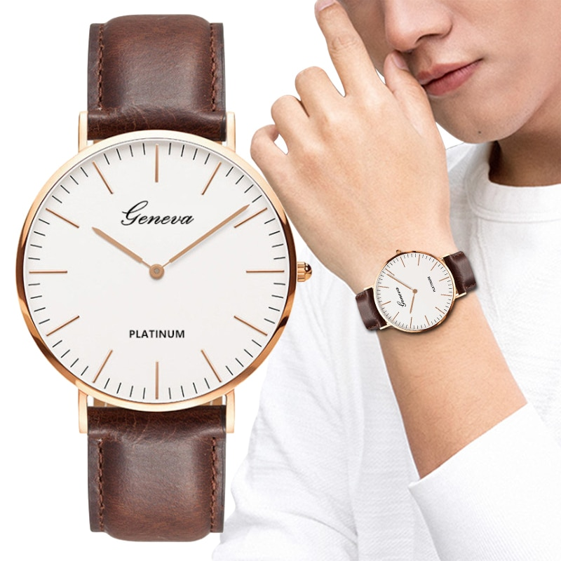New Men's Watch Fashion Casual Ultra Thin Watches Simple Men Business Leather Quartz Wristwatch Clock Luxury Relogio Masculino starking luxury casual new relogio couple watches pair men and women quartz slim simple style leather wrist watch hodinky clock