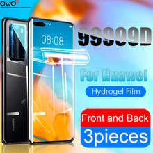 Защита экрана для Huawei P10 P20 P40 P30 Pro Lite Полное покрытие мягкая Гидрогелевая пленка для Mate 40 10 30 20 Lite Pro P Smart Nova 5t Аксессуары мобильных телефонов г...