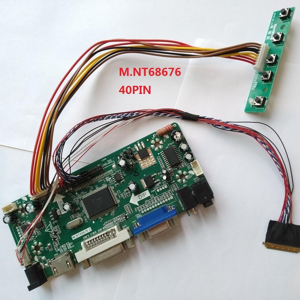 HDMI DVI VGA LCD LED Aduio عدة تحكم مجلس كابل ل 40pin LTN160AT06-B01/LTN160AT06-W01 1366X768 لوحة الشاشة