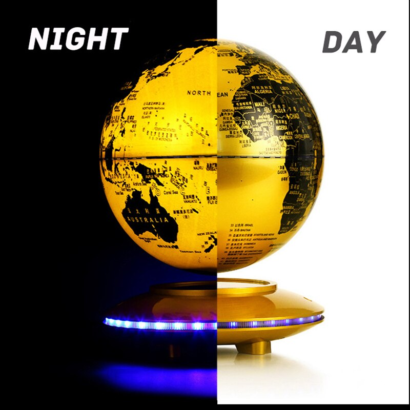 Magnetic Levitation Globe Night Light For Children's Bedroom Decor Craft Creative Ornaments 360 Spend Rotate Floating Table Lamp enlarge
