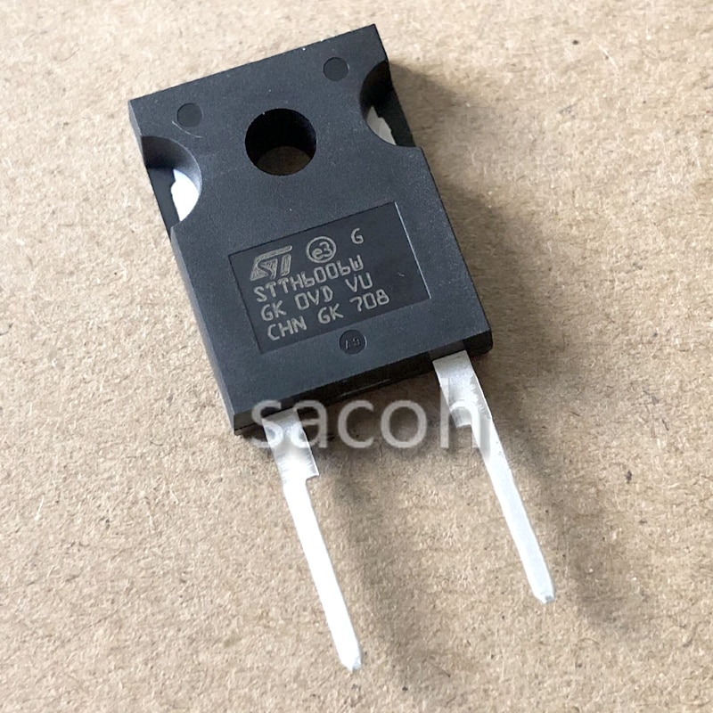 Original 10PCS/Lot STTH6006W or STTH6004W or STTH8006W TO-247 60A 600V Ultrafast high voltage rectifier