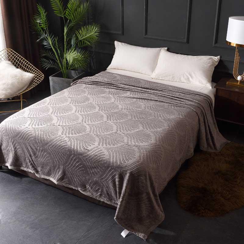 Уютное мягкое одеяло из чистой фланели, одноместное, двухместное, всесезонное, большое, для дивана, кровати, многослойное, летнее постельное...