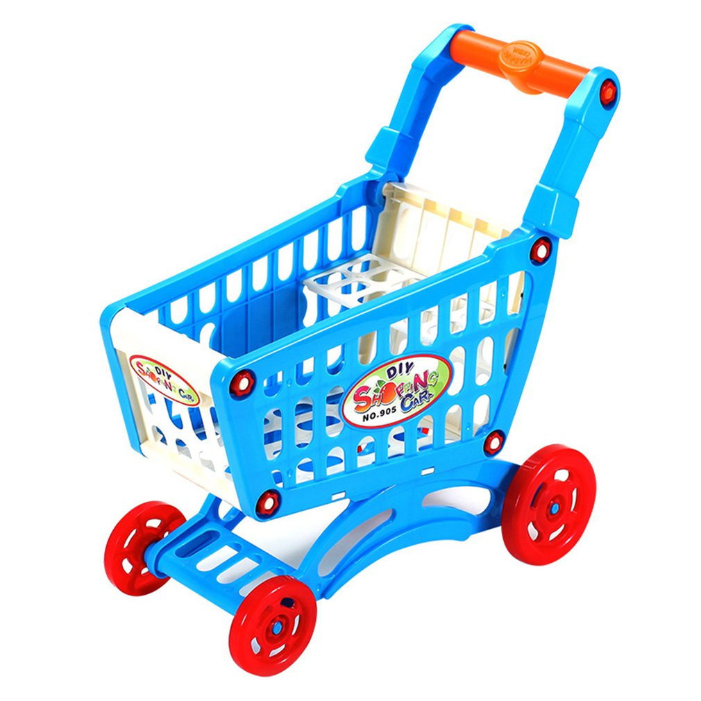 children s toy doll stroller play pretend toy children s toy cart girl play house toy trolley birthday gifts brinquedos juguetes Simulation Supermarket Shopping Cart Pretend Play Toy Mini Plastic Trolley Play Toy Gift for Children Play Role in Pretend Game