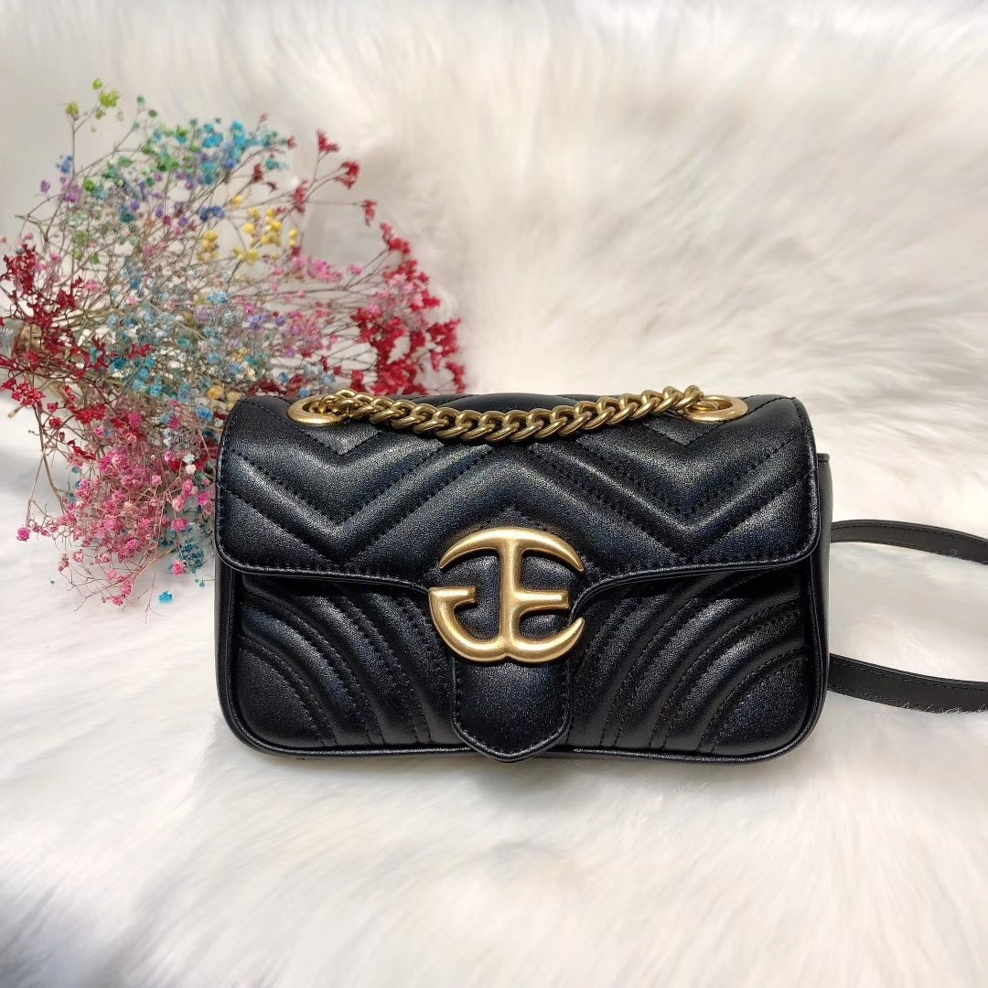 Spring/summer 2021 new rhombic chain bag with wild style and one shoulder diagonal fashion leather handbag