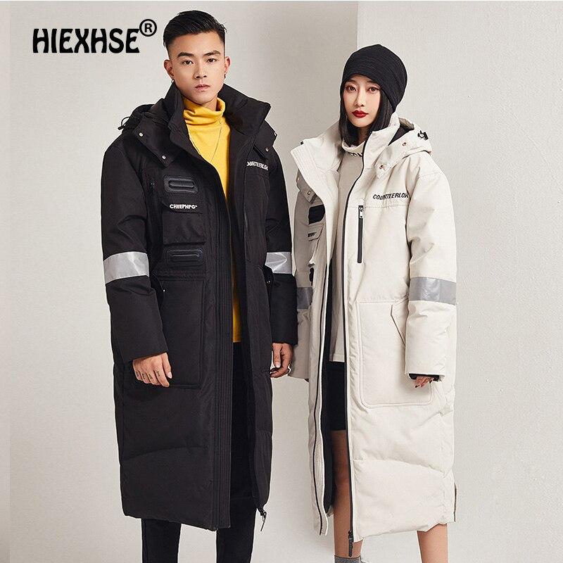 Мужская ветрозащитная куртка с капюшоном, теплая ветрозащитная куртка с бархатной подкладкой, длинная парка для зимы, 2021