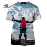 outdoor sports mountain climbing hiking 3d print men t shirt women t shirt summer mens tshirt casual hip hop tee tops