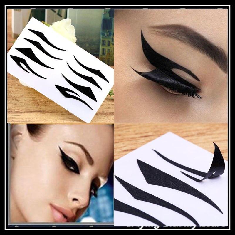 2 Sheet 4 Styles Black Eyes Sticker Sexy Cat Style Eyeliner Temporary Instant Tattoo Transfer Eyeshadow Eyeliner Eyes Sticker
