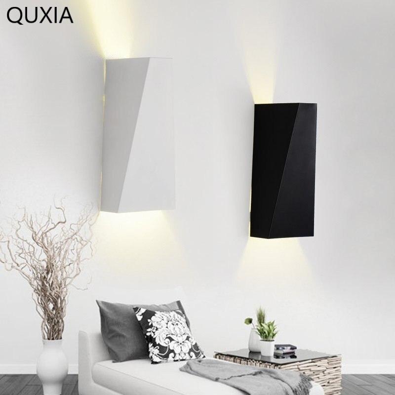 Lámpara Led de pared de aluminio nórdico simplicidad moderna lámpara de espejo de pared de fondo de pasillo luz de noche interior dormitorio escaleras sala de estar
