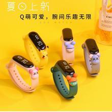 New Cartoon Electronic Watch LED Touch Waterproof Wristband Watch Cute Digital Bracelet for Girls Bo