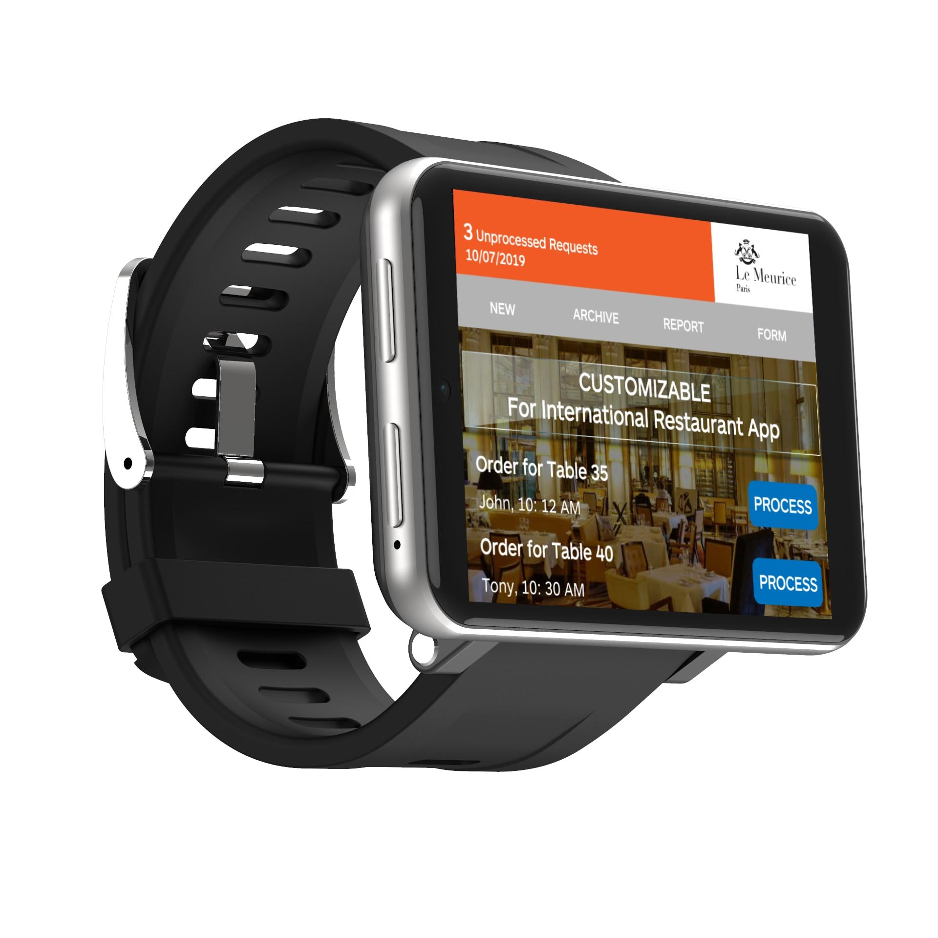 2700mah بطارية كبيرة smartwatch LEMFO LEMT 2.86 بوصة أندرويد 7.1 3GB + 32GB بطاقة SIM لتحديد المواقع واي فاي 4G ساعة ذكية