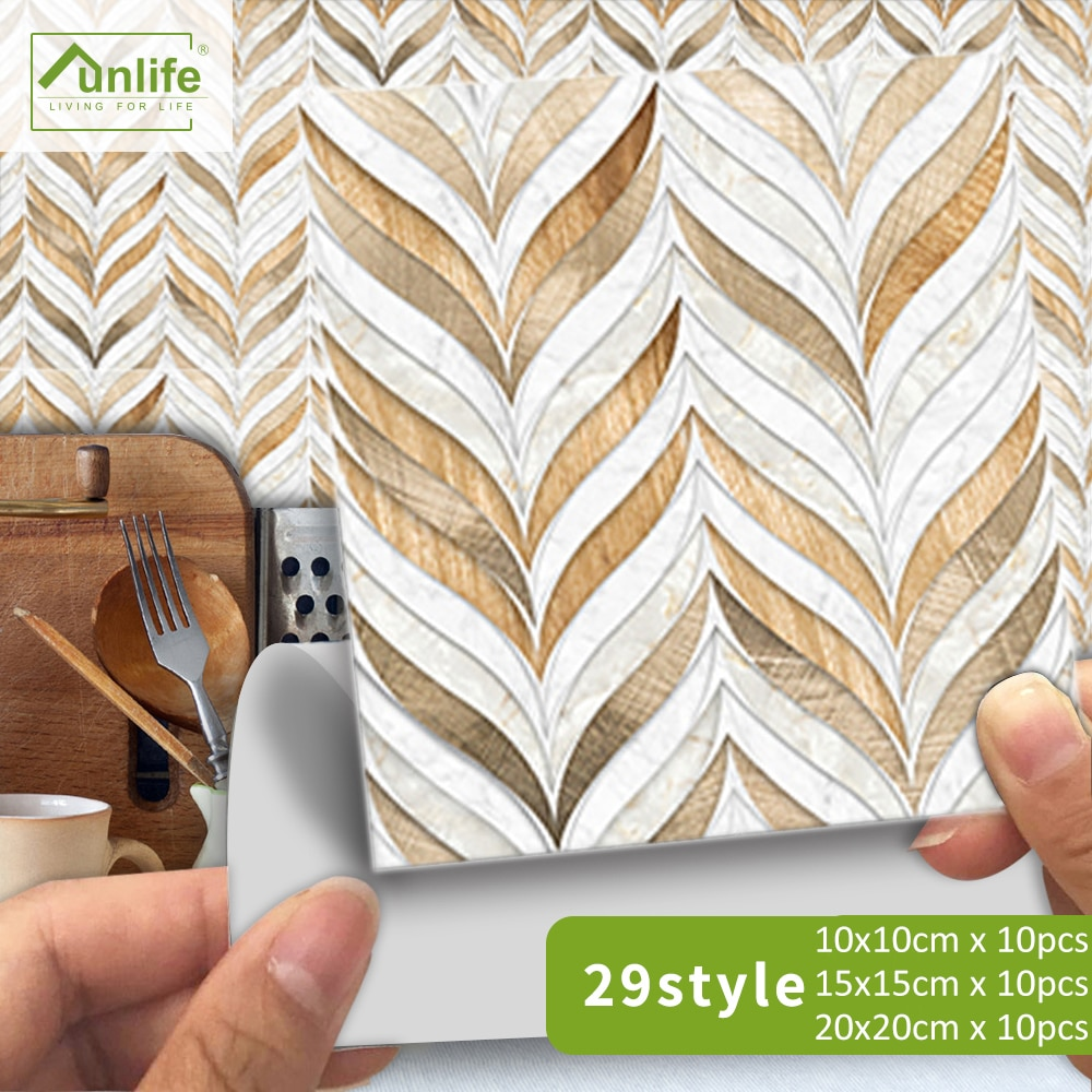 AliExpress - Funlife® Tile Sticker Wall Sticker Self-Adhesive Waterproof Decorative Oil Proof Easy to Clean Bathroom Kitchen Room Home Decor
