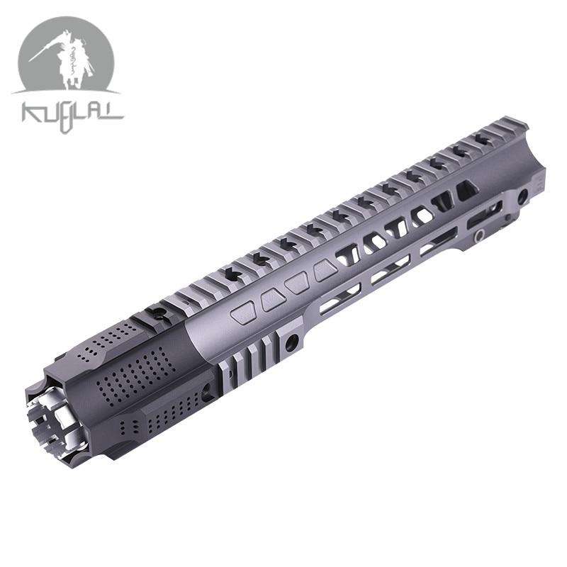Abrigo duro de aluminio anodizado jail break 12 ''14'' Airsoft handguard gris Tactical Rail para AEG Gel Blaster