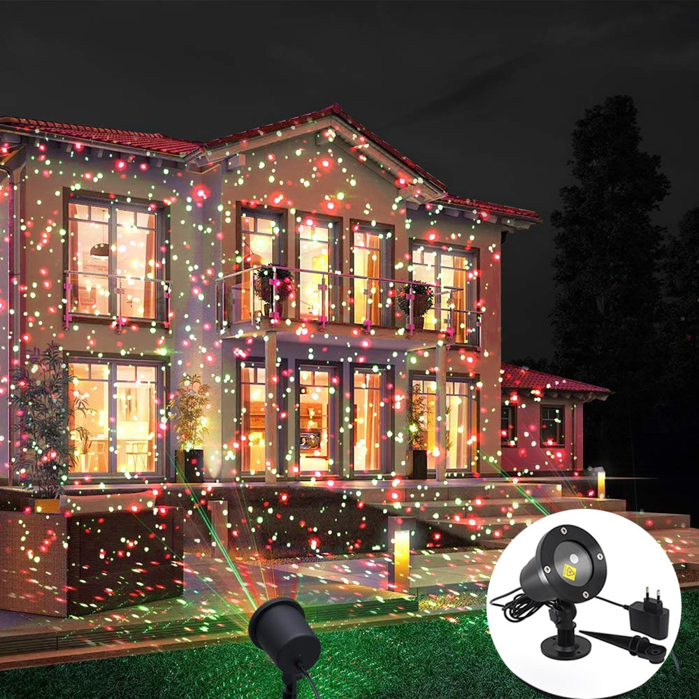 Sky Star Stage Laser Projector Landscape Lighting Red & Green Christmas Party LED Stage Light Outdoor Garden Lawn Laser Lamp outdoor solar garden lawn stage effect light fairy sky star laser projector waterproof landscape garden christmas decor lamp