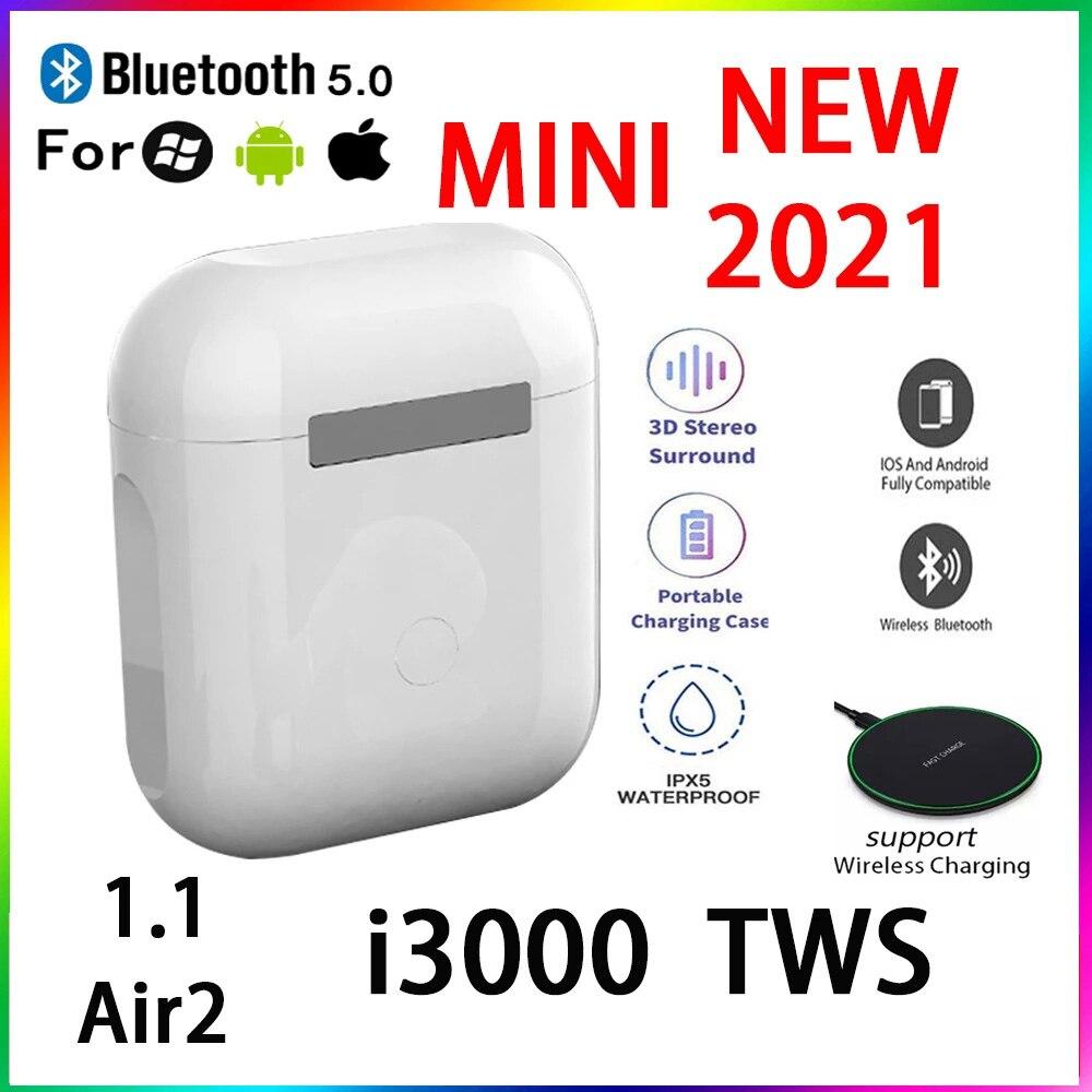 Original i3000 TWS 1:1 GPS nombre auriculares Bluetooth inalámbricos PKi7 i11 i14...