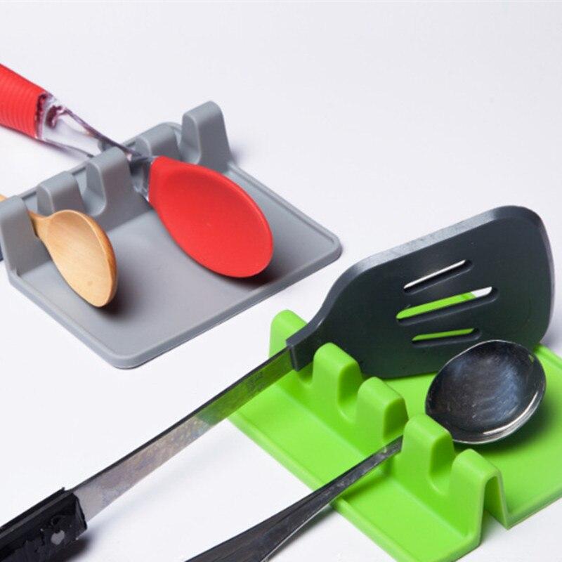 Mamá-Herramientas de cocina de mano... cuchara de silicona de cocina soporte resistente...