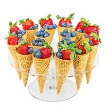 Акриловые держатели конусов для конфет и мороженого 16 отверстий или 8 отверстий для свадебной вечеринки