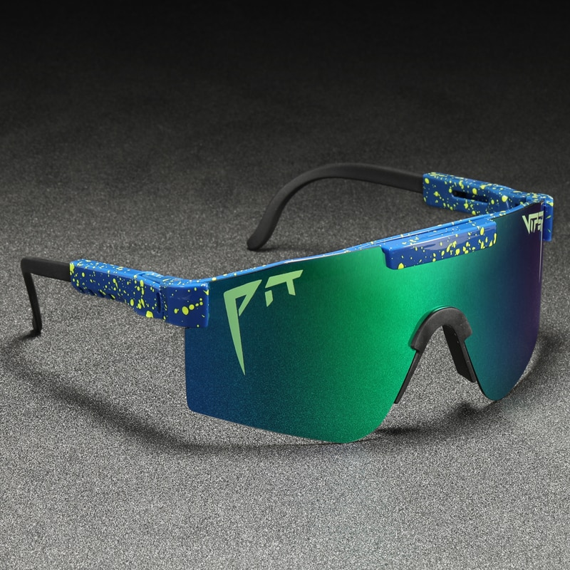Pit Viper Cool Mirror Polarized Sunglasses Men TR90 Anti Resistance Safety Goggle Women Overized Sha