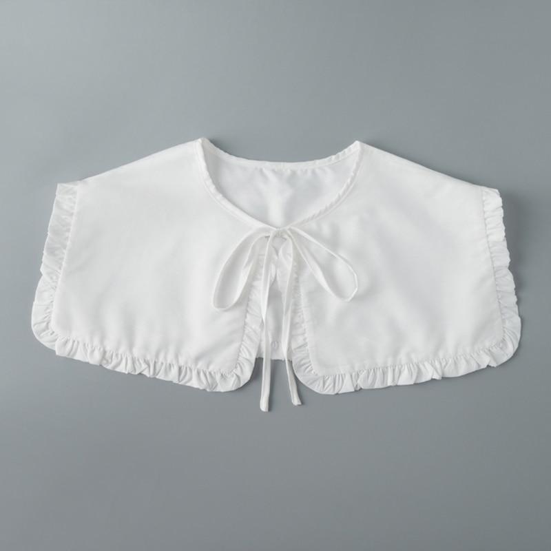 Q1FA 1 шт. модная женская накладная Съемная рубашка Шаль декоративный воротник накладная блузка Топ Женская одежда Аксессуары