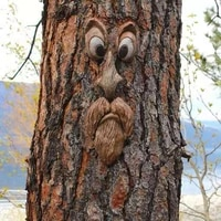 independent station tree face tree monster facial features easter carnival scary outdoor novelty creative props toys