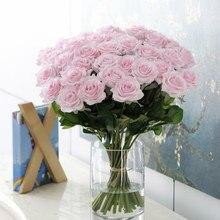1 piece Artificial Rose Flowers Wedding Bride Bouquet Silk Flowers Decorative  for DIY Home Decor Christmas Rose Flowers Gift