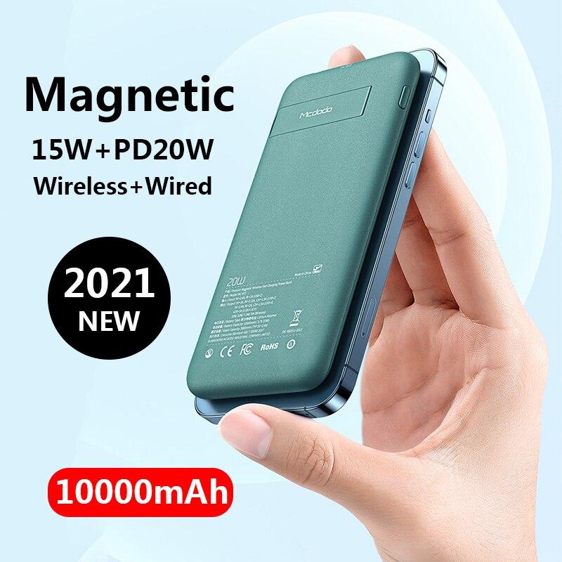 10000mAh المغناطيسي Powerbank 15 واط شحن لاسلكي سريع ل iPhone13 12 برو ماكس المحمولة شاحن الهاتف المحمول بطارية خارجية