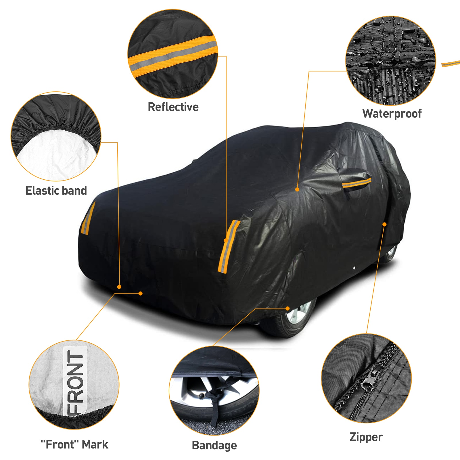 For SUV Waterproof Rain Sun Uv Protector Car Cover Full Covers Outdoor Reflector Dust Snow M L XL XXL For Lada Niva SW 4x4