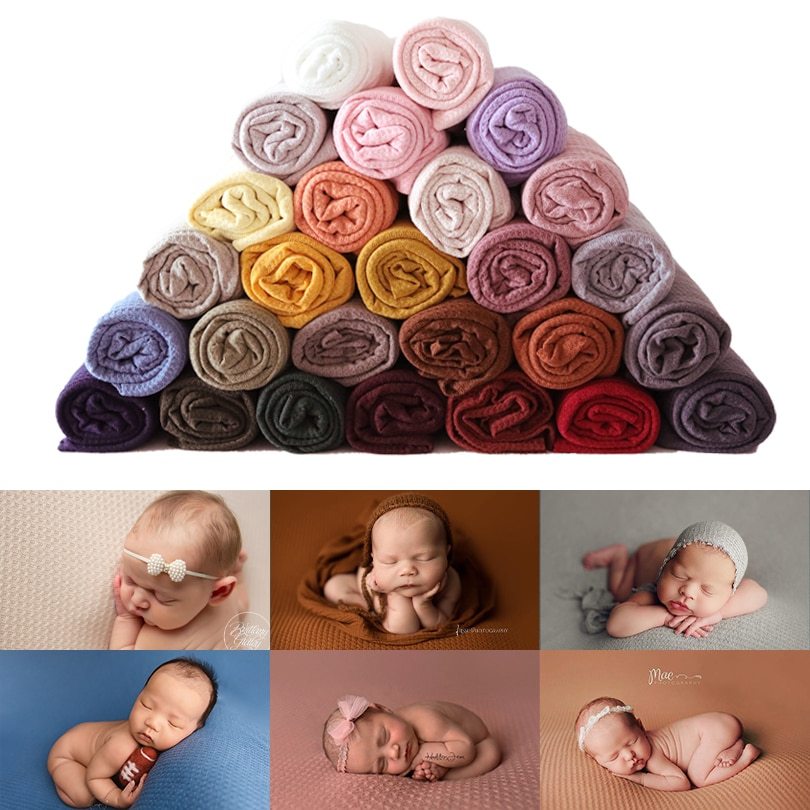 AliExpress - 160*150CM Newborn Photography Props Waffle Fabric Backdrops for Baby Beanbag Cover Blanket Photo Shoot Booth Posing Accessories