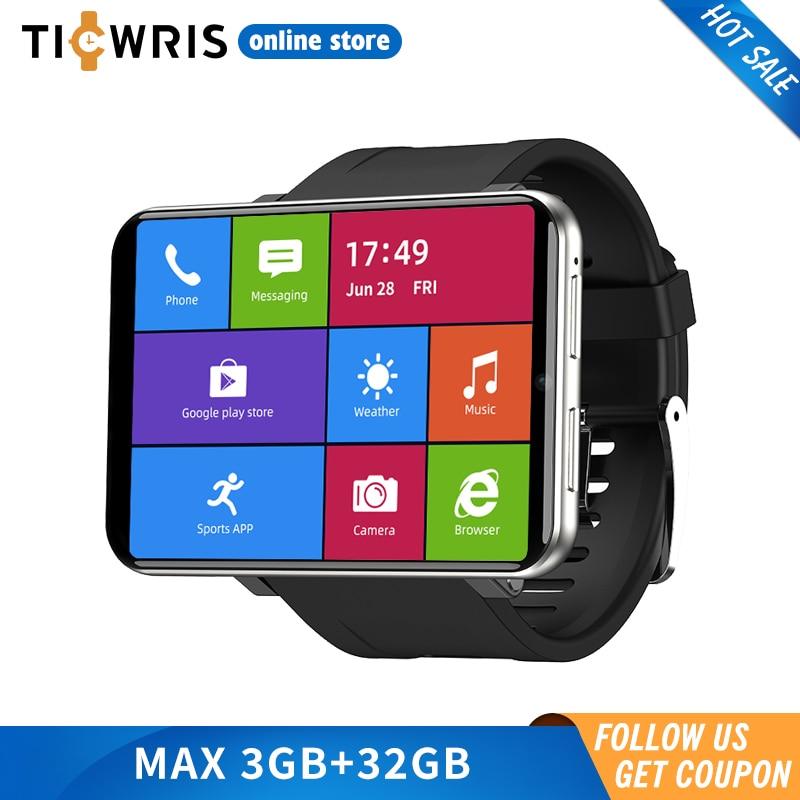 "Новинка 2020 Ticwris Max 4G Android часы 2,86 ""большой дисплей Лицо ID 2880Mah 3 ГБ 32 ГБ 8MP камера GPS мужские Смарт часы для IOS Android"