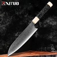 xituo professional 8 inch chef knife razor sharp kitchen knife damascus steel vegetable meat fish cleaver cooking knife tool