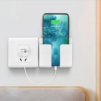 universal smartphone wall holder charging box bracket stand holder shelf mount support for mobile phone tablet