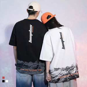 Fashion Summer Letter Printing Cotton Tshirts For Men And Women Casual Loose O-Neck Short Sleeve Tees Lovers' Streetwear Tops