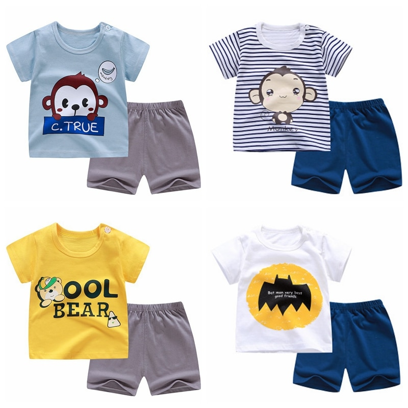bibicola 2018 autumn winter newborn baby boy girls warm thicken clothing sets infant suit baby boys clothes set toddler outfits 2pcs Baby Boy Summer Clothing Set Infant Clothes Suit Newborn Girl Short Sleeve top+Shorts Toddler Homewear Baby Outfits