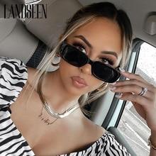 Brand Small Square Sunglasses Women Fashion Designer Rectangle Sun Glasses Female Vintage Black Eyew