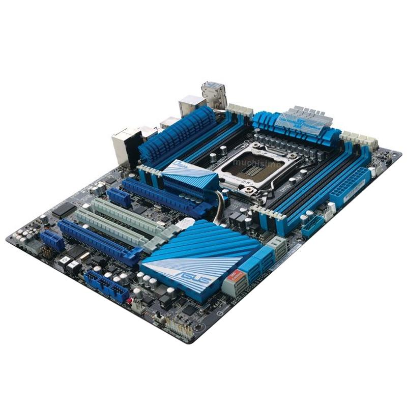 LGA 2011 Asus P9X79 PRO Motherboard 64GB PCI-E 3.0 CrossFireX Intel X79 Core i7 DDR3 2400MHz Desktop X79 Gaming Placa-mãe 2011