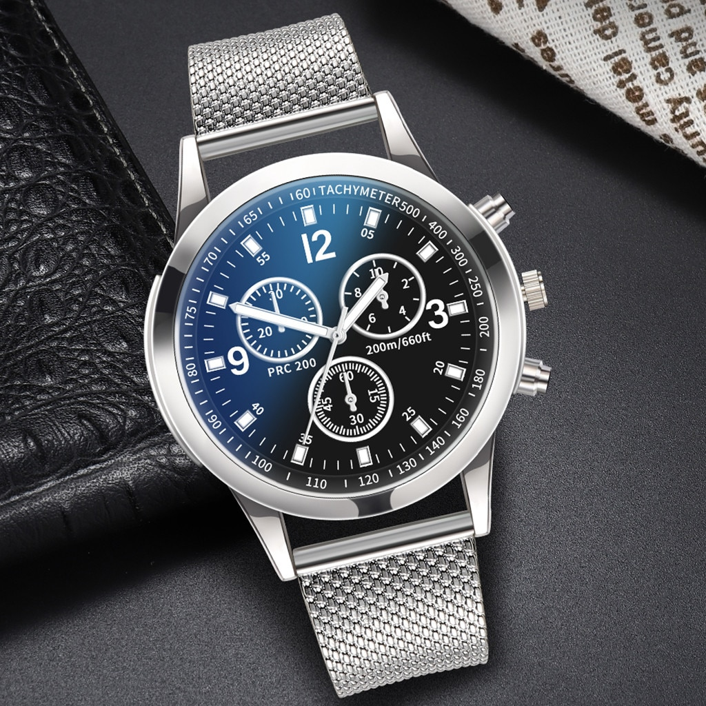 Men's Fashion Simple Business Watch Luxury Watches Quartz Watch Stainless Steel Dial Casual Bracele