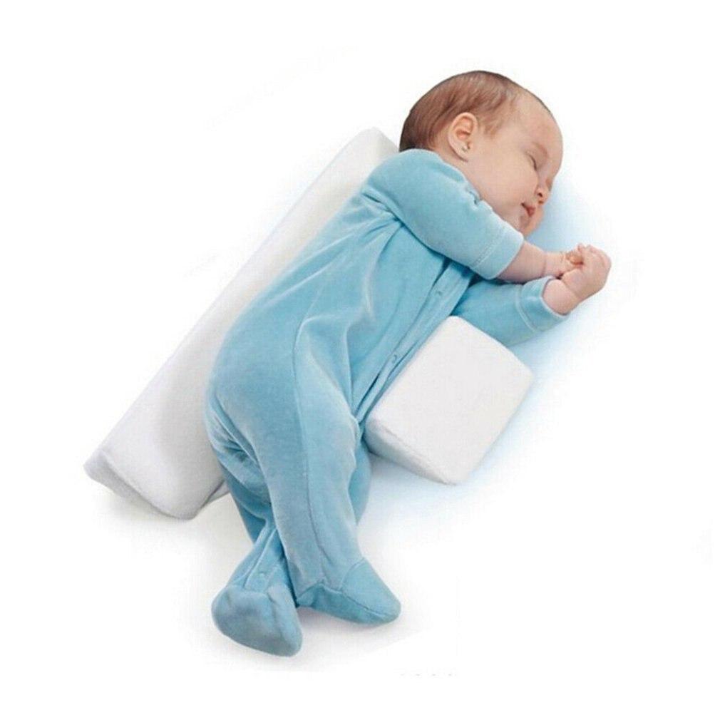 Cojín apto para dormir en los lados del bebé, cuña ajustable, cojín antivuelco, almohada de bebé con posicionamiento triangular