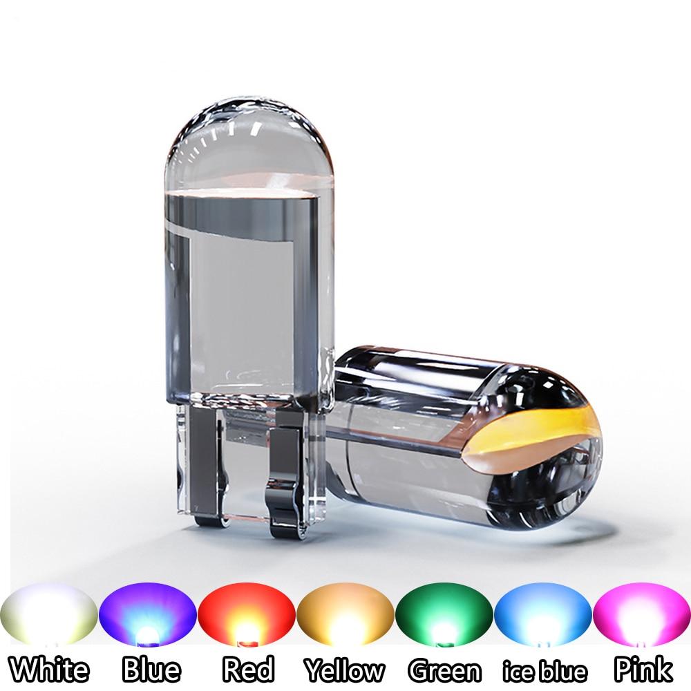 20 шт. 168 194 W5W Led T10 Автомобильный свет COB стекло 6000K белый автомобильный номерной знак лампа купол чтения DRL лампа Стиль 12 В