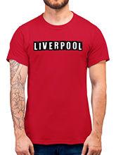 Liverpool bloc texte T Shirt-rouge Club Football Sup idée cadeau