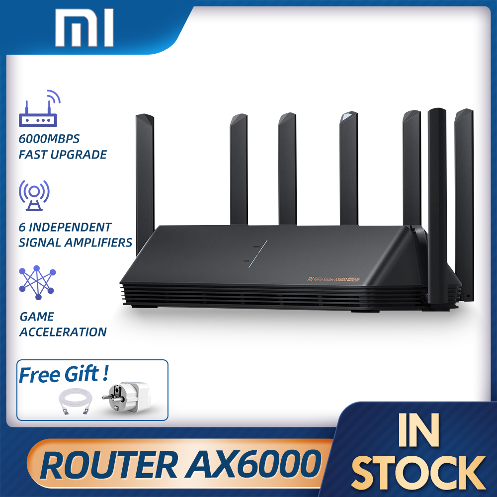 Xiaomi AX6000 AIoT Router 6000Mbs WiFi6 VPN 512MB CPU Mesh Repeater External Signal Network Amplifier Repeater Gigabit Router
