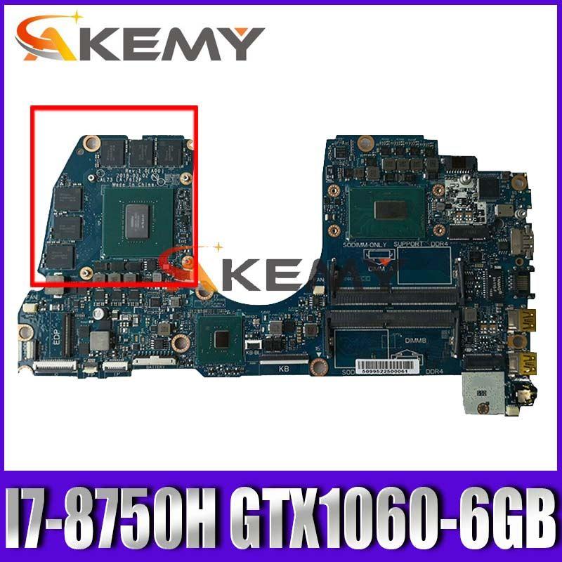 LA-F612P اللوحة المحمول لديل G3 17-3779 15-3579 اللوحة الأصلية I7-8750H GTX1060-6GB