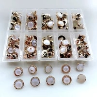 hl 10 different styles team 1 box 100pcs 10mm 12mm plating buttons shank diy apparel shirt buttons sewing accessories